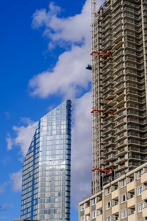 New architecture on City Road, London, United Kingdom
