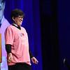 "Tenth Triennial Convention | Bishop Eaton dons a ""Rockin' Region 4"" t-shirt given by Deana Fuchs, SWO president  Region 4F."