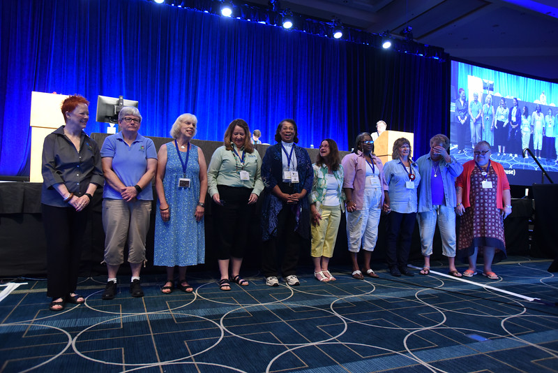 Tenth Triennial Convention   The outgoing 2014-2017 churchwide executive board.