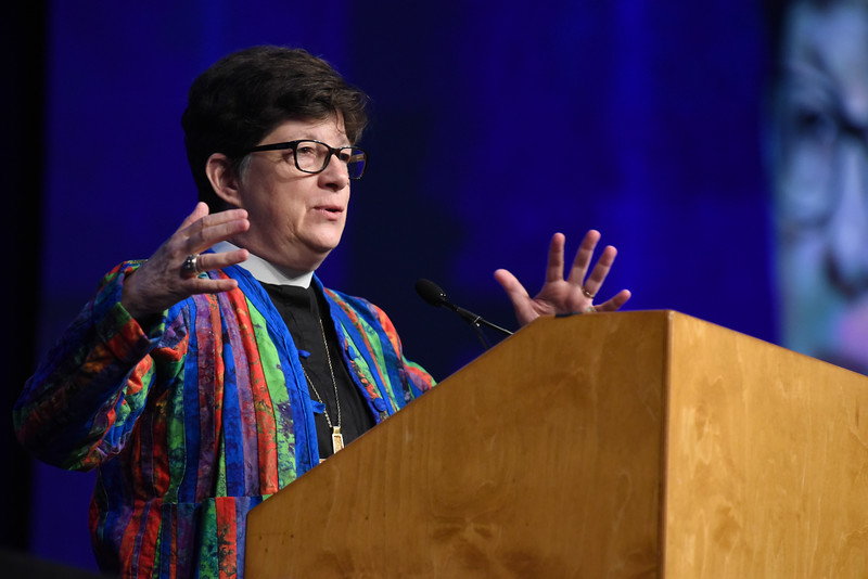 Tenth Triennial Convention | The Rev. Elizabeth Eaton, ELCA Presiding bishop, delivers the State of the ELCA.