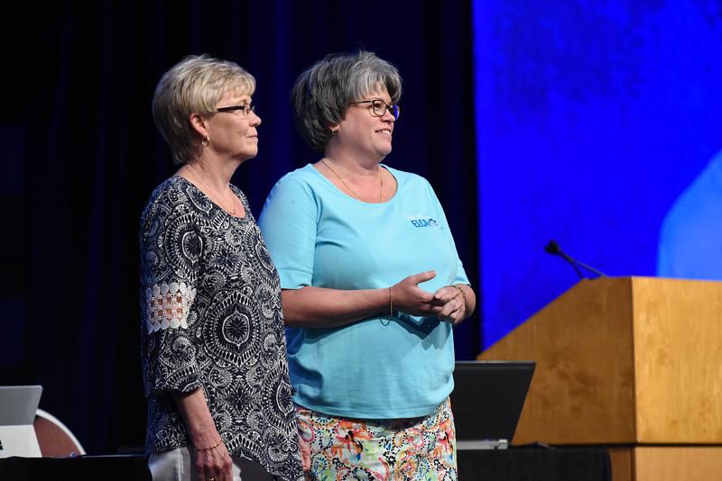 Tenth Triennial Convention | Former churchwide executive board presidents, Beth Wrenn and Jennifer Michael.