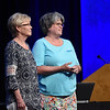 Tenth Triennial Convention | Former churchwide executive board presidents, Beth Wrenn and Jennifer Michael.