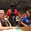 Tenth Triennial Convention | Pictured left, Marsha Mikell, Mt. Pleasant, SC, St. John's Lutheran, The Rev. Jackie Utley, Columbia, SC, Ascension Lutheran, Mary Soltis, Irmo, SC, Bethlehem Lutheran Church share laughs before the opening of the convention.