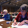 Tenth Triennial Convention | Rose Korman, Dundas, Gol Lutheran, Kenyon, Minn, prepares to vote for the next president of the executive board.