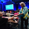 Tenth Triennial Convention |  Margery Kellar, Atlanta, Ga., Living Grace Lutheran Church casts her vote for president of the executive board.t