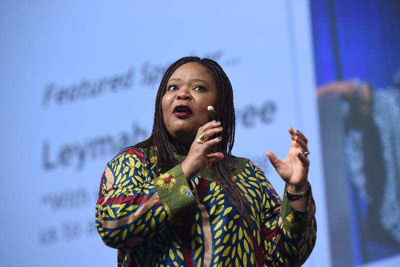 Tenth Triennial Gathering   Leymah Gbowee opens plenary 2.