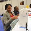 Tenth Triennial Gathering | Keia Morris, Gardena, Ca., Another Level Ministries, sews hygiene kits for Days for Girls.