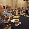 Tenth Triennial Gathering | Nancy Miller, Lime Springs, Iowa, St. Paul's Lutheran Church, Jeanine Schwade, Lime Springs, iowa, St. Paul's Lutheran, Kristie Neddermeyer, Webster City, Iowa, Trinity Lutheran, enjoy their first time attendee breakfast.