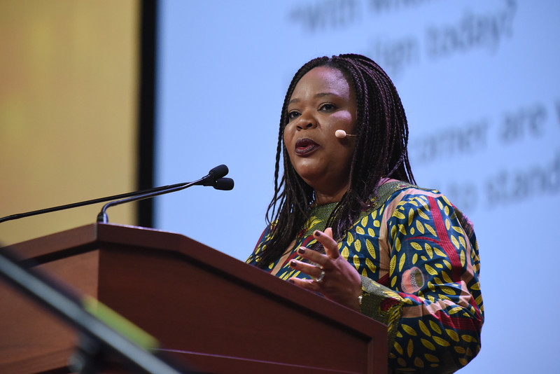 Tenth Triennial Gathering | Leymah Gbowee, Nobel Peace Prize winner and peace activist, was the featured speaker, Friday morning in Plenary 2.