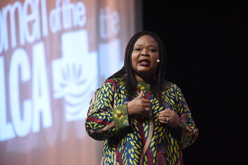 Tenth Triennial Gathering | Leymah Gbowee addresses the audience in plenary 2.