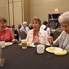 Tenth Triennial Gathering | Diane Scheremet, Hinckley, Minn., Zion-Cloverdale, Eloise Jones, Payson, Az., Mt. Gross Lutheran, and Betty Lee, Rochester, Minn., Homestead United Methodist enjoy their first time attendee breakfast.