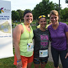 Tenth Triennial Gathering | Runners, Erin Reynolds, Erin Sinnwell, and Kathleen Haase pose after they finish the race. Erin Sinnwell came in first place with a time of 25.29.