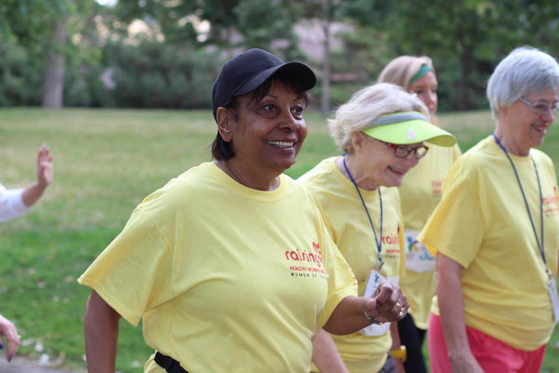 Tenth Triennial Gathering | Wyvetta Bullock, Chicago, Il, enjoys the Run, Walk and Roll.