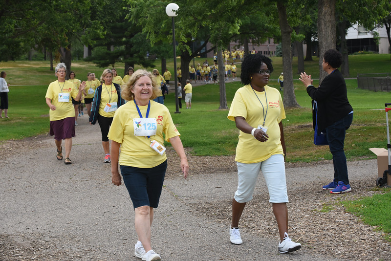 Tenth Triennial Gathering | Run, Walk and Roll participants walk in Loring Park.