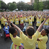 Tenth Triennial Gathering | Stretch and pray before the Run, Walk and Roll.