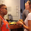 Tenth Triennial Gathering | Cafe writer and triennial gathering workshop presenter, Rozella White, Missouri City, Texas, and Andrea Westby, stop by the Cafe dinner.