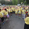 Tenth Triennial Gathering | Runners, walkers and rollers prepare with prayer before the race.