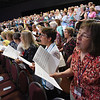 Tenth Triennial Gathering |  Around 300 people joined in singing in the choir at each service..