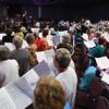 Tenth Triennial Gathering | The choir sings at closing worship.