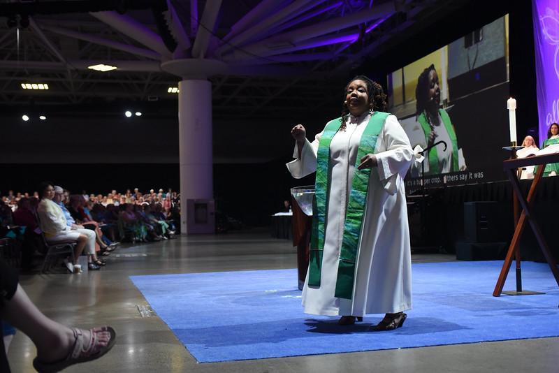 Tenth Triennial Gathering | Rev. Angela Khabeb, Waukesha, Wisc., Ascension Church, preaches the sermon at closing worship.