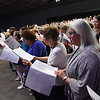 Tenth Triennial Gathering | The choir sings at closing worship. The choir included the voices of around 300 people.