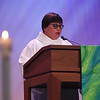 Tenth Triennial Gathering | Anna Jetson, Spring Grove, Minn., gave the second reading from Romans 8:1-11 at closing worship.