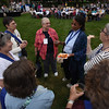 Tenth Triennial Gathering | After opening worship, attendees enjoy refreshments on the plaza of the convention center.