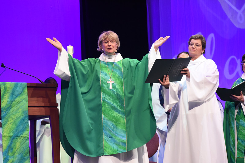 Tenth Triennial Gathering | Ann Svennungsen (bishop of Minneapolis Area Synod) presides at opening worship.