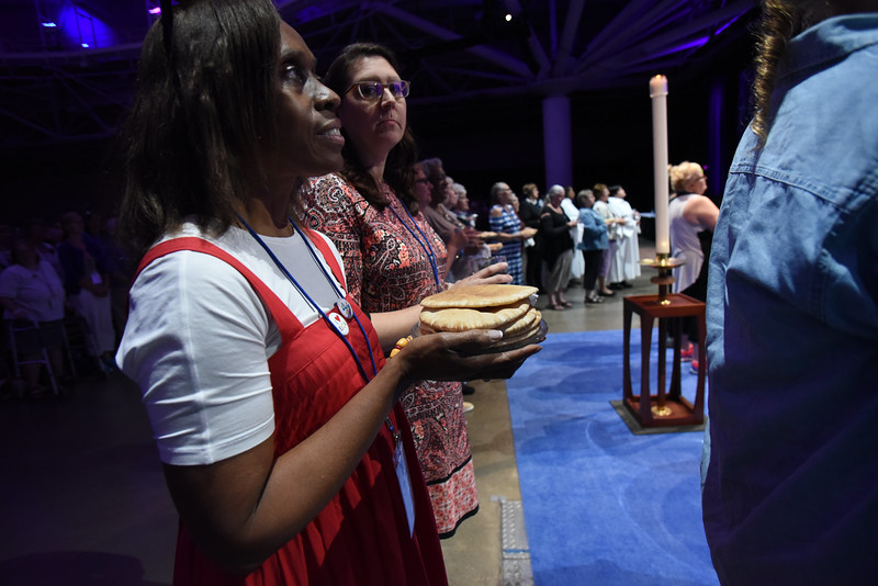 Tenth Triennial Gathering | Nearly 60 communion ministers and 30 ushers with the help of 10 chaplains and others assisted in the Holy Communion service.