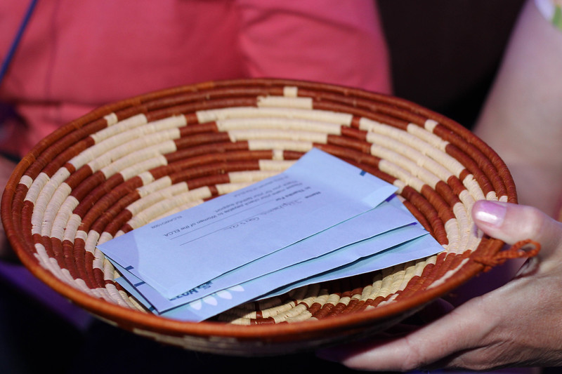 Tenth Triennial Gathering | Thankoffering envelopes are collected at the Thankoffering service.