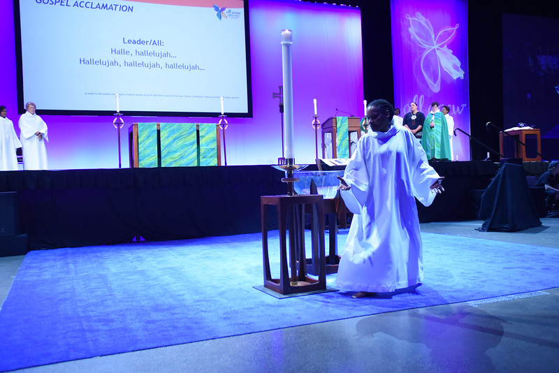 Tenth Triennial Gathering |  Valora Starr, Women of the ELCA staff leads a liturgical dance.