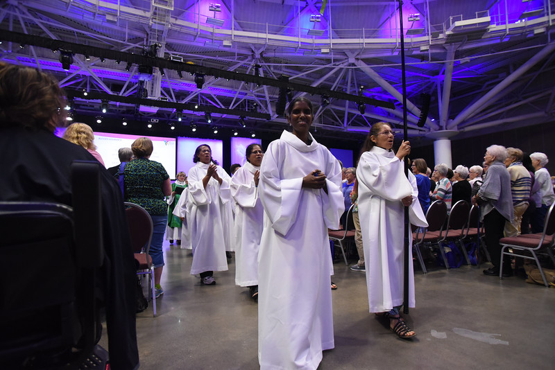 Tenth Triennial Gathering    Closing procession at opening worship.