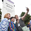 "Tenth Triennial Gathering | Folks take selfies with Bishop Eaton during ""Meet the Bishop"" following opening worship."
