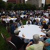 Tenth Triennial Gathering |  After opening worship, attendees enjoy refreshments and fellowship on the plaza of the convention center.