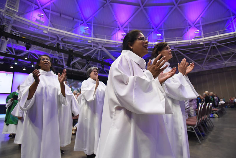 Tenth Triennial Gathering |  Closing procession at opening worship.<br /> .