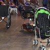 Tenth Triennial Gathering | Wheels parked during opening worship.