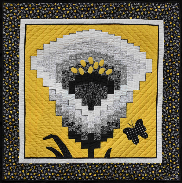 Calla in Bargello style, by Judy Ann Johnson, Scappoose, OR