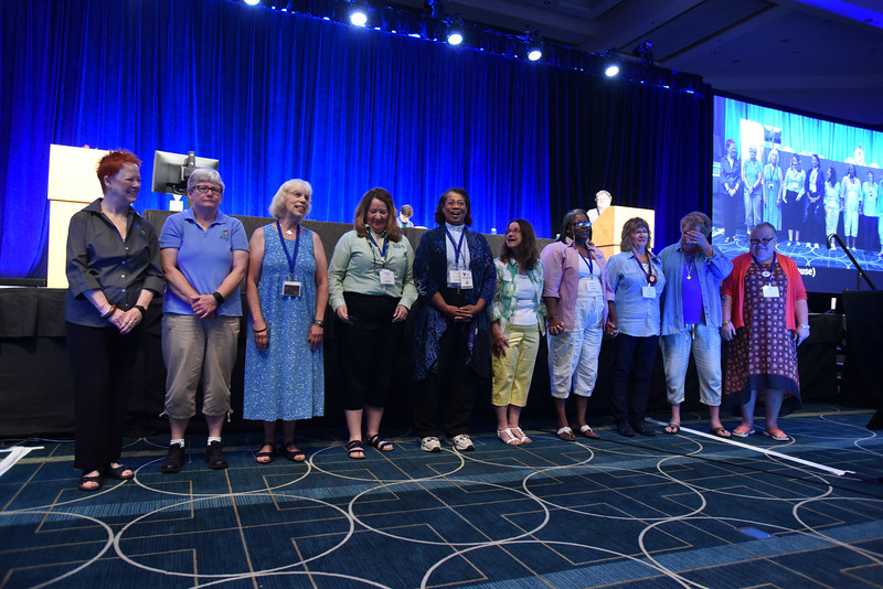 Tenth Triennial Convention | The outgoing 2014-2017 churchwide executive board.