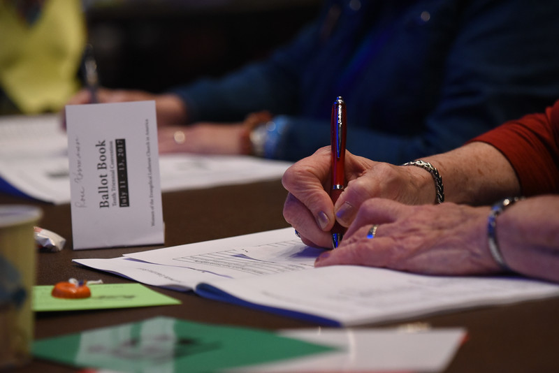 Tenth Triennial Convention | Voters cast their ballot.