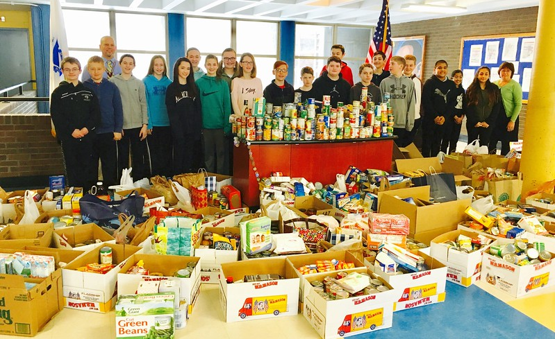 "CHELMSFORD — The Parker Middle School held its 10th annual ""Souper Bowl"" Food Drive, which benefits the Chelmsford Community Exchange (also known as the Chelmsford food pantry).<br /> <br /> This super idea was founded by Parker's diligent principal Jeffrey Parks. More than 730 amazing students in grades 5-8 participated, as did the staff! According to Dr. Parks, the goal is to have 100 percent participation with all students and staff members donating at least one item.<br /> <br /> The school's core values are ""PRIDE — Perseverance, Respect, Integrity, Dedication, Empathy. I asked all the compassionate students how they felt participating in such a worthy cause, and they all cheered and yelled ""Great!""<br /> <br /> This single event collected more than 3,100 items. Kudos, Parker Middle School! Thank you for making a difference!<br /> <br /> For more information visit  <a href=""http://www.chelmsfordfoodpantry.org"">http://www.chelmsfordfoodpantry.org</a>."