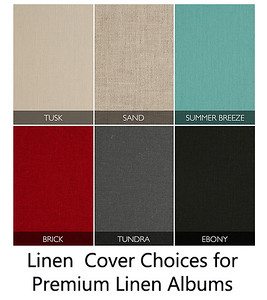 Cover Selections for Premium Linen Albums