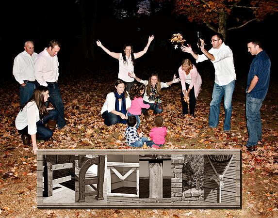 Family 11x14 sepia