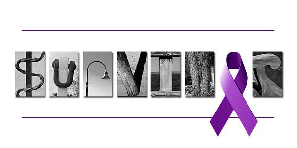Survivor purple ribbon