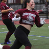 Lynn, Ma. 11-19-17. Sydney Denham of Lynn English High, during the powder puff game at Manning Field on Sunday.