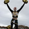 Lynn, Ma. 11-19-17. Sean Devin was one of Lynn Classical High School's most enthusiastic cheerleaders.