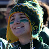 Lynn, Ma. 11-19-17. Classical High School powder puff player Sidney St. Ives on the sidelines during the Lynn English vs Lynn Classical powder puff game.