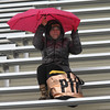 Lynn, Ma. 11-19-17. Sonia Chandler arrived a good twenty minutes before the start of the powder puff game, when it was raining hard, to watch her Maryah Chander play.