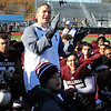 Lynn, Ma. 11-23-17. Christopher Carroll congradulates his team on beating Classical.