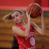 Saugus, Ma. 11-29-17. Rachael Nazzaro during basketball practice at Saugus High.