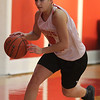 Saugus, Ma. 11-29-17. Alessia Salzillo during girls basketball practice at saugus High.
